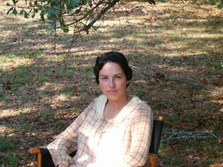 "Susan Kegerreis on location in ""Warm Springs"""